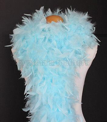 Aqua Blue 80 Grams Chandelle Feather Boa Dance Party Halloween Costume