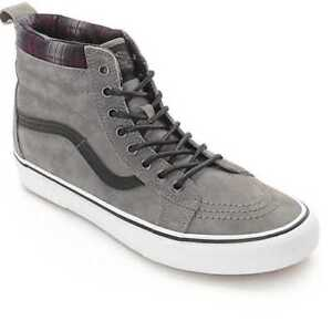 Details about NEW MEN'S 8 VANS SK8-HI MTE PEWTER PLAID SKATE SHOES VN000XH4JTG