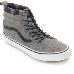 fdbaf7e13b NEW MEN S 8 VANS SK8-HI MTE PEWTER PLAID SKATE SHOES VN000XH4JTG