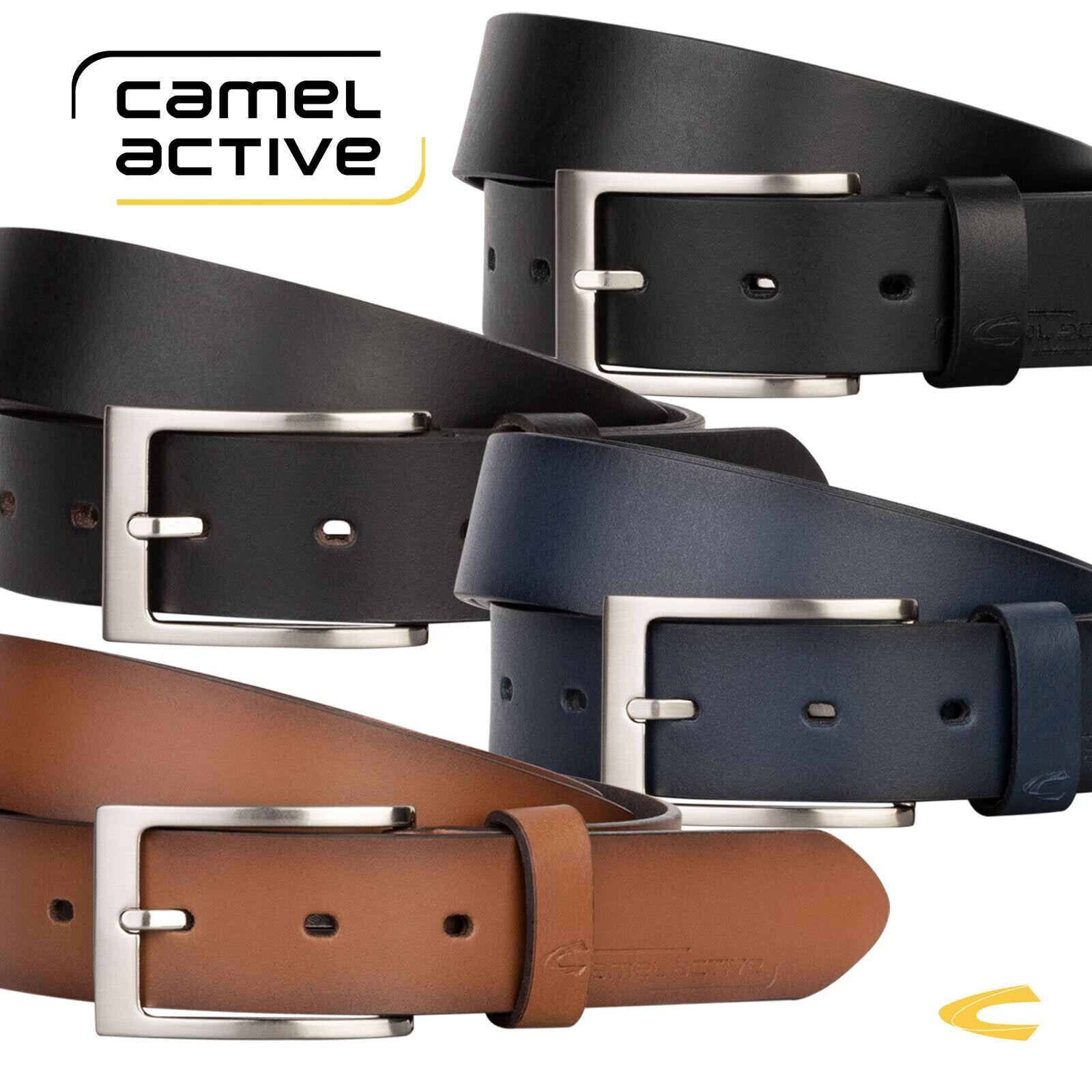 CAMEL ACTIVE Ledergürtel Herren Damen Rindledergürtel Gürtel 3,2 cm Breit