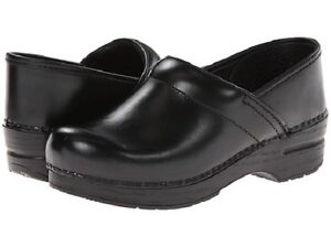 NIB-Dansko-Professional-Leather-Clog-in-Black-Cabrio