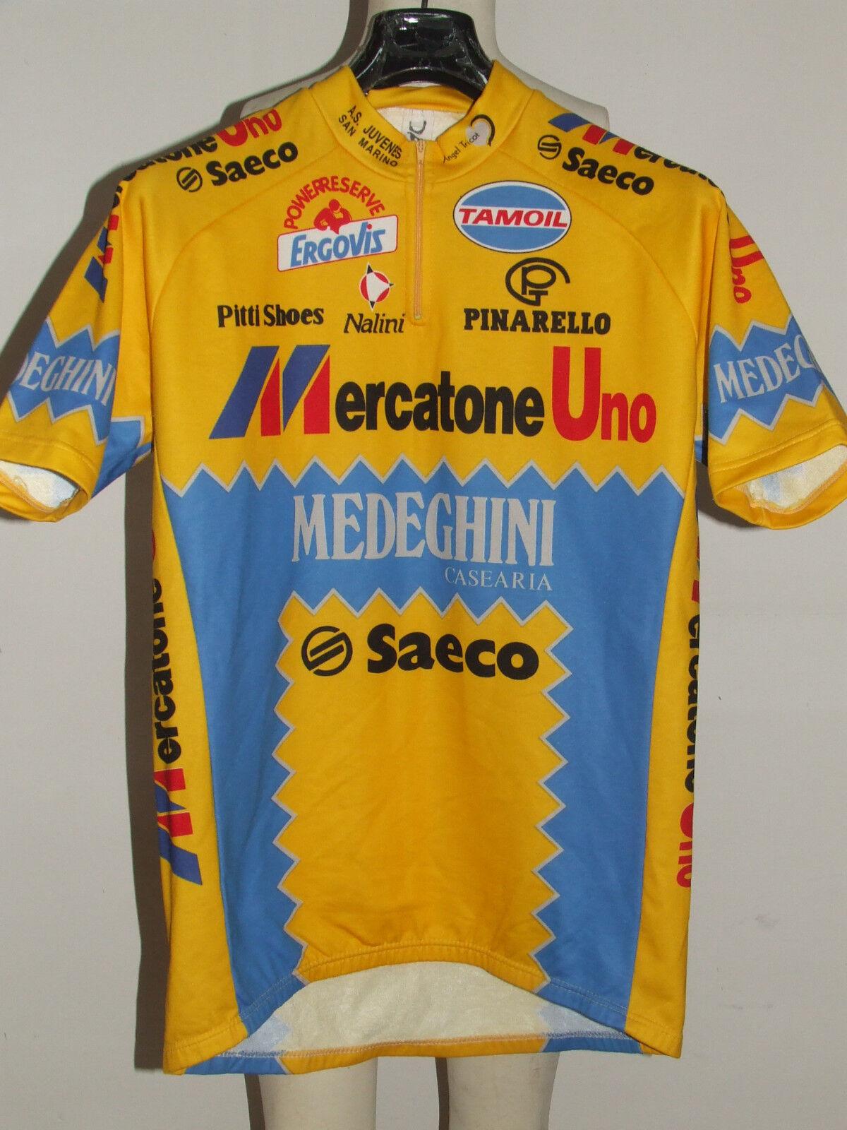MAILLOT DE VÉLO HAUT CYCLISME MAILLOT CYCLISME HAUT équipe MERCATONE UN NALINI SAECO tg XL 0c610d