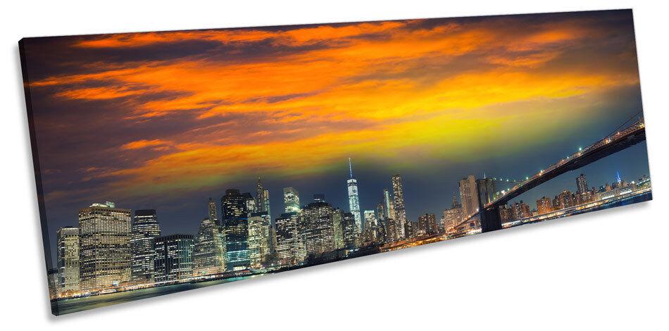 MANHATTAN New York City NYC art. a muro PANORAMA stampa incorniciata