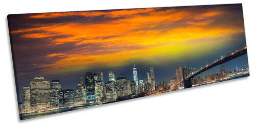 Manhattan New York City NYC Panorama CANVAS WALL ART Framed Print