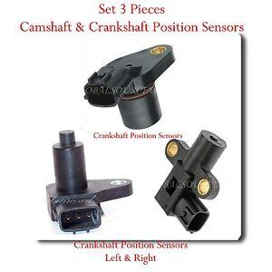 Set 3 Camshaft Amp Crankshaft Position Sensor Fits Nissan