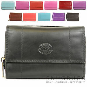 LADIES-SOFT-NAPPA-LEATHER-PURSE-ZIP-AROUND-WITH-FRONT-FLAP