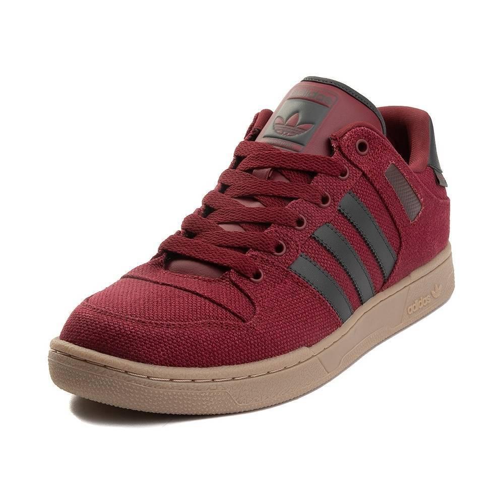 Neu Herren Adidas Bucktown Athletic Schuhe Weinrot Grau Gummi Hanf