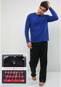 25f62b2ad5b Image is loading Mens-Pajama-Tommy-Hilfiger-Flannel-Cotton-Sleep-Set-