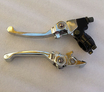 Break & Clutch Folding Lever Set CRF50 70 KLX Suzuki Yamaha Pit Bike RRU