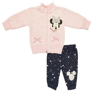 79e14a7a69 Das Bild wird geladen Maedchen-Baby-SPORT-ANZUG-GEFUTTERT-Minnie-Mouse -Sweat-