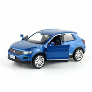 Volkswagen-T-ROC-SUV-1-36-Scale-Model-Car-Diecast-Gift-Toy-Vehicle-Kids-Blue