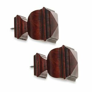 Cambria-2-Piece-Classic-Wood-Napoleon-Curtain-Finial-Cherry-Set-of-2