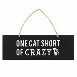 One-Cat-Short-Of-Crazy-Wooden-Hanging-Wall-Sign-Witch-Occult