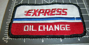 Used Smaller Letters Nice Elegant Appearance Spirited Express Oil Change Pocket Size Embroidered Patch