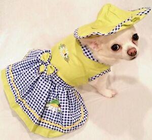 Harness-Dress-Dog-Dress-Dog-clothes-Frog-Garden-Friends-XS-S-M-L-XL-FREE-SHIP