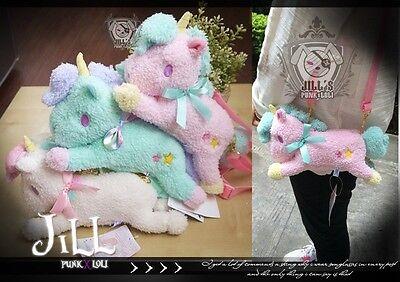 lolita Little twin stars hobbyhorse Pony mount unicorn petite messenger bag