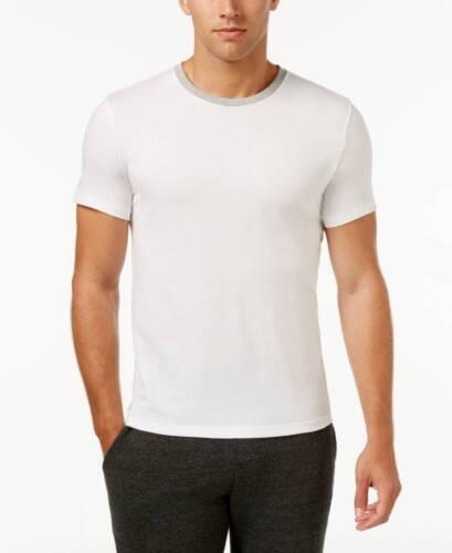 $95 Kenneth Cole Reaction Men White Short-Sleeve Crew-Neck Tee Dress T Shirt L