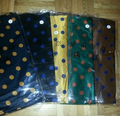 7 Farben 114 x 114 cm Designer hochwertige Seidentücher gepunktet