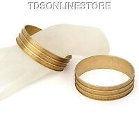 Raw Brass 3 Channeled Bracelet Bangle Blanks 3/4 Inch Pkg Of 2