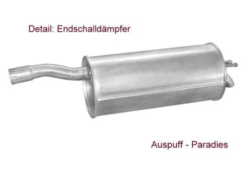63PS Typ 119 /& 223 bis 10//2005 Abgasanlage Auspuffanlage Fiat Doblo 1.9D Kit