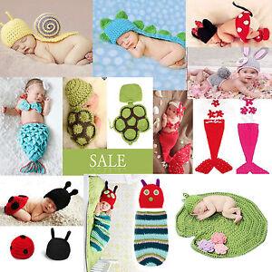 Fotografia-de-bebe-Multi-Estilos-Punto-Ganchillo-Ropa-Sombrero-Recien-nacido-1pc