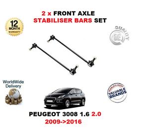 Per PEUGEOT 3008 1.6 2.0 2009 /> 2016 2 X Stabilizzatore Asse Anteriore Cadere Collegamento Bar Set