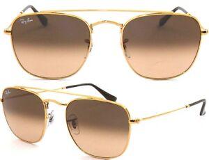 Ray-Ban-senora-caballero-de-gafas-de-sol-rb3557-9001-a5-talla-51-oro-cuadrado-f-i5-H