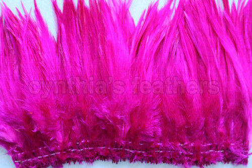 """100+ 9g, 0.32OZ Fuschia 5-7/"""" saddle COQUE hackle rooster Feathers for crafting"""