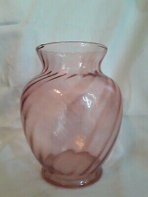 Vintage Pink Depression Glass Vase, Vintage Pink Depression Glass Vase