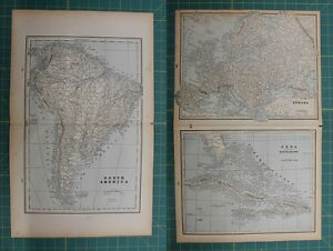 South america cuba europe vintage original 1893 columbian world south america cuba europe vintage original 1893 columbian gumiabroncs Gallery