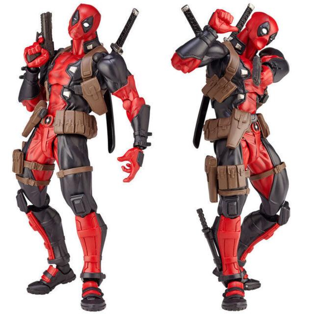 Quality X-Men Yamaguchi Marvel Revoltech Kaiyodo DEADPOOL Action Figure Toy Gift