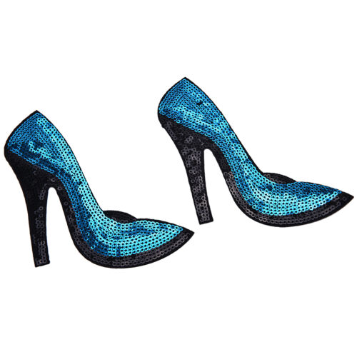 High-heeled Schuhe Sequined Iron On Patches für Kleidung Applique Embroidery .3