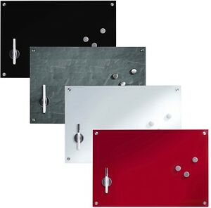Glas-Memoboard-60-x-40cm-Magnettafel-Whiteboard-Schreibtafel-Glastafel-Wandtafel