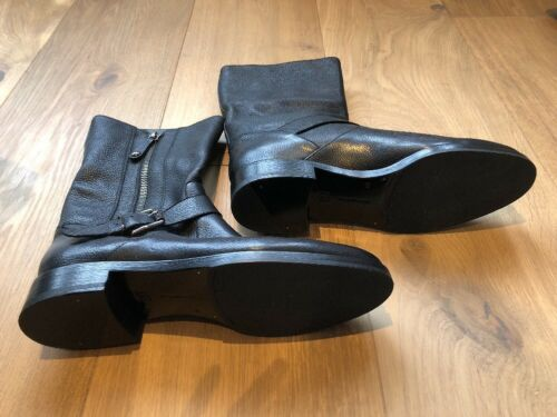 Uk Eu Rossi 5 Boots Leather 7 Black 5 10 Us Motorcycle 8 Gianvito Flat 40 9 68dqYwffa