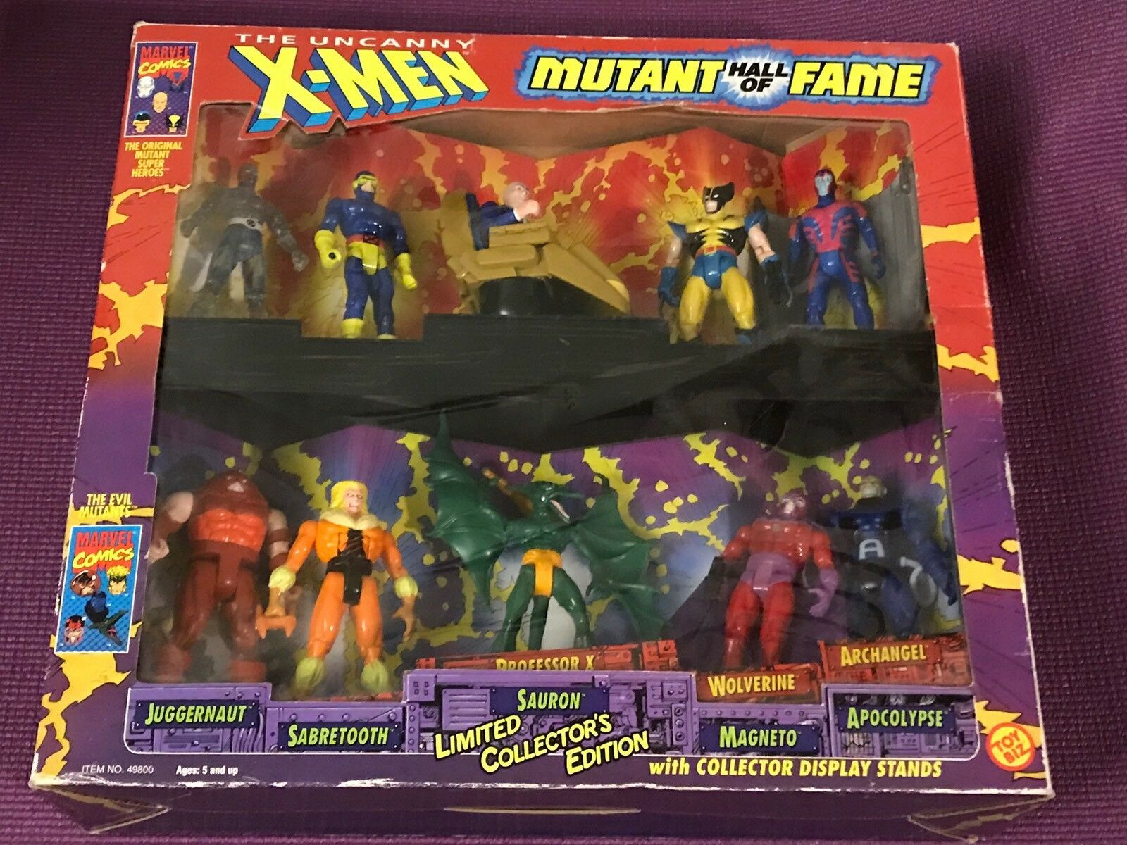 Toybiz marvel - x - men - hall of fame 10 bild playset limited edition mib