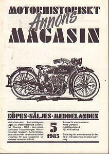 Motorhistoriskt-Magasin-Annons-Swedish-Car-Magazine-5-1985-Indian-32717nonDBE