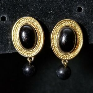 Image Is Loading Vintage Costume Jewelry Monet Black On Drop Clip