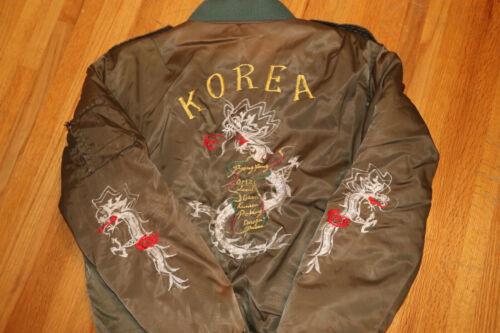 Korea Souvenir Vintage Bomber Jacket M Medium 1970