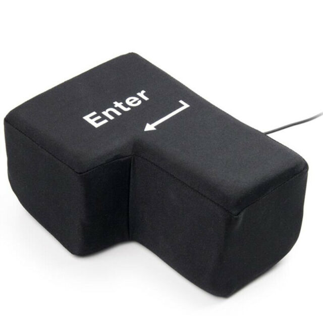 Giant Enter Button USB Big Enter Stress Relief FREE SHIPPING