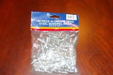Aluminum Head Steel Mandrel Rivets Size316x 38 Qty 100