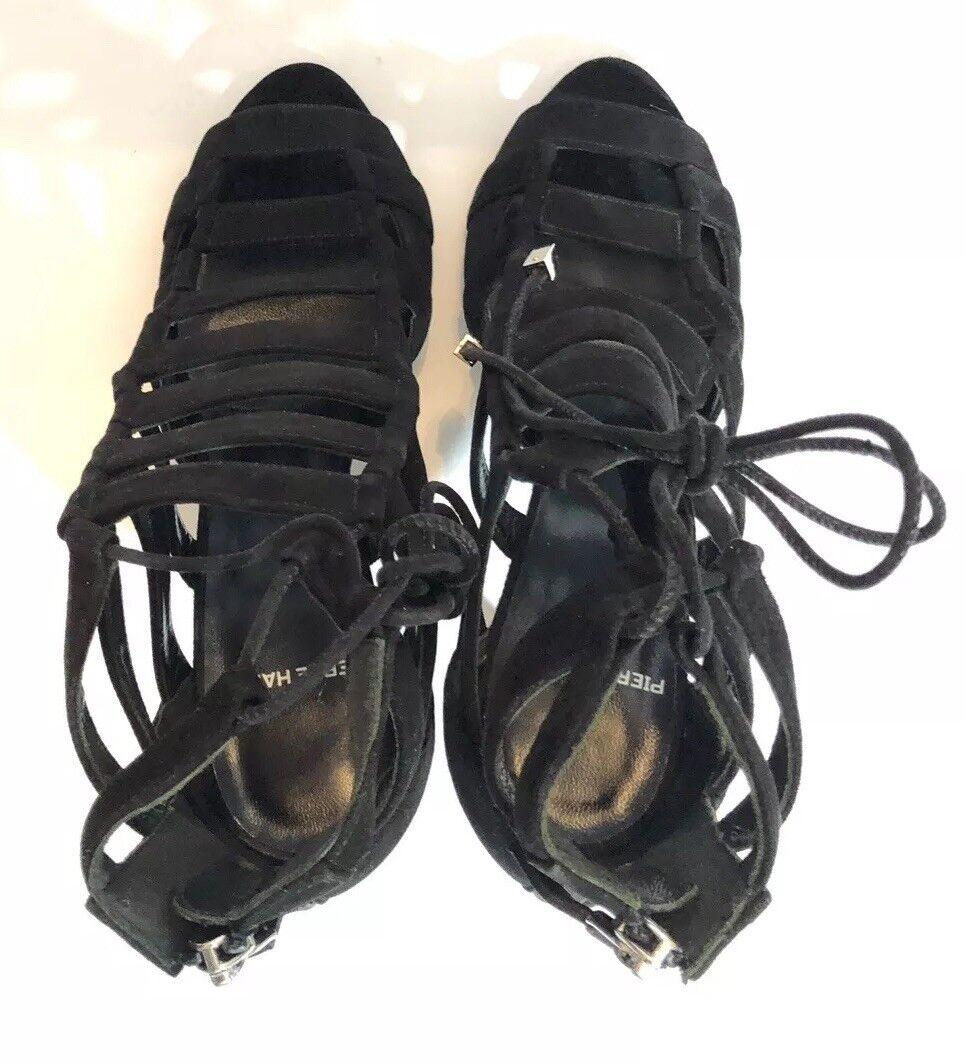 Pierre Hardy Femme Chaussures Taille 37 nouveau dans dans dans boîte en Daim Noir Sandales talons f6310b