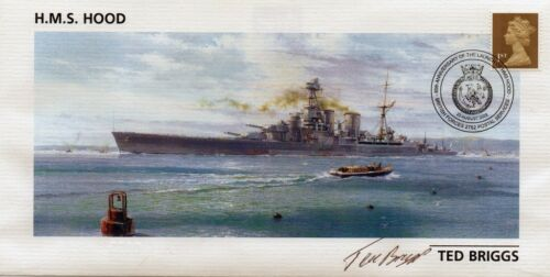 deceased TED BRIGGS HMS HOOD FDC in person signed by survivor
