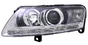 Headlight Left for Audi A6 4F 10/08-3/11 Xenon D3S LED + Lwr Actuator