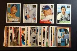 MICKEY-MANTLE-1997-TOPPS-REPRINT-MASTER-COMPLETE-SET-OF-36-w-1952-ROOKIE-SET1