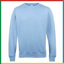 53101932989c9f AWDis PLAIN SWEATSHIRT Classic Sweater Jumper Top - Casual Work Leisure  Cotton