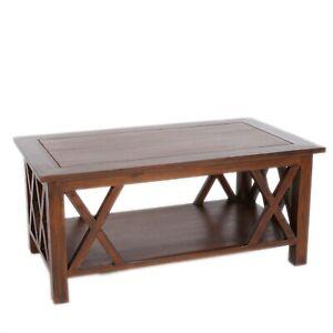 Wohznzimmer-Tisch-Kaffeetisch-Kolonialstil-Couchtisch-Massiv-Holz-Vintage