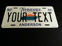 Personalized Tennessee Aluminum State License Plate, Tag ANY TEXT & ANY COUNTY