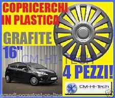 KIT COPRI CERCHIONI GRIGI X RUOTE DA 16 PER AUTO FIAT RENAULT ALFA OPEL FORD VW