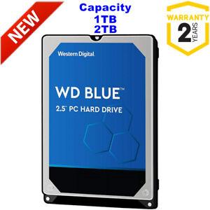 "New WD Blue 1TB 2TB 2.5"" HDD Internal Hard Drive 5400rpm Laptop PC PS4 CCTV DVR"