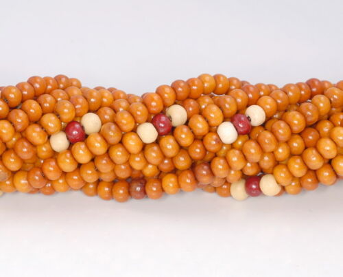 5X4MM GOLDEN SANDALWOOD RONDELLE LOOSE BEADS 34/""